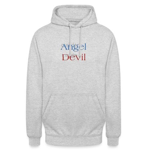 Angelo o Diavolo? - Felpa con cappuccio unisex