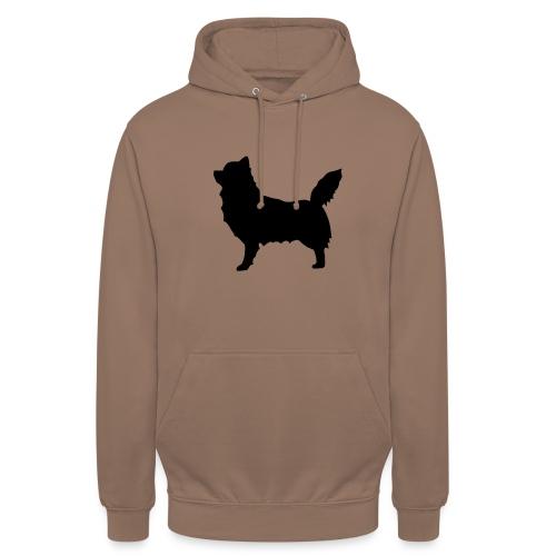 """Chihuahua pitkakarva musta - Huppari """"unisex"""""""