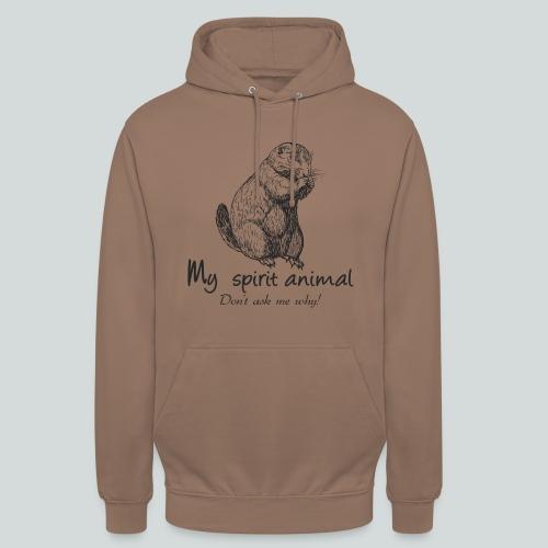 Mon animal totem est le chien de prairie - Sweat-shirt à capuche unisexe