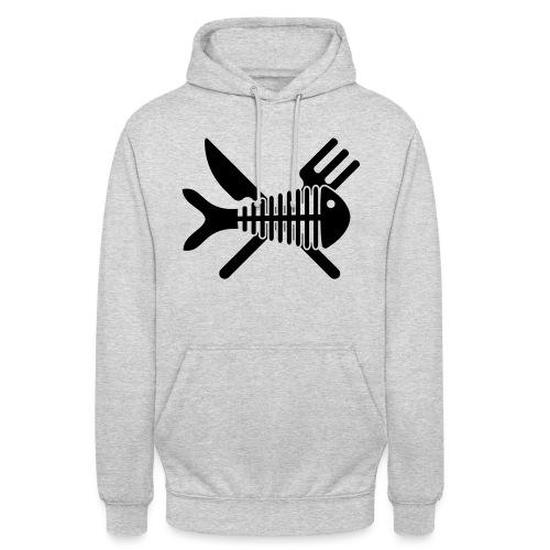Poisson couvert - Sweat-shirt à capuche unisexe
