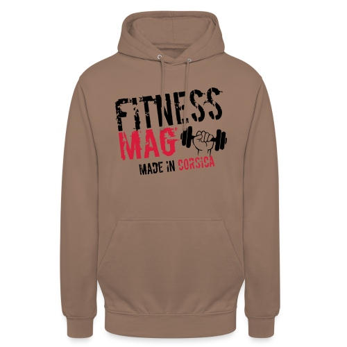 Fitness Mag made in corsica 100% Polyester - Sweat-shirt à capuche unisexe
