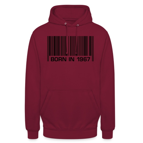 born in 1967 50th birthday 50. Geburtstag barcode - Unisex Hoodie