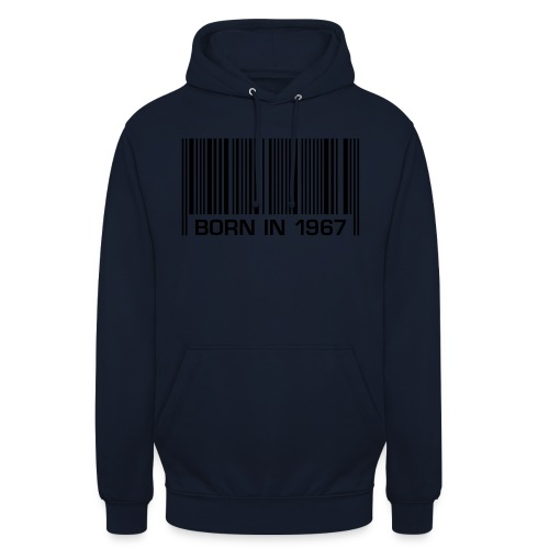 born in 1967 50th birthday 50. Geburtstag barcode - Unisex Hoodie
