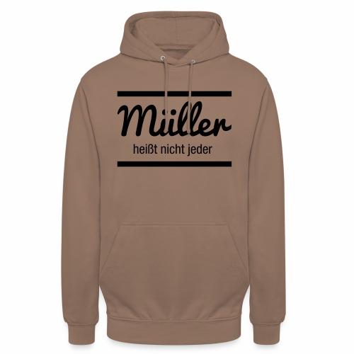 Müller Namensschild - Unisex Hoodie