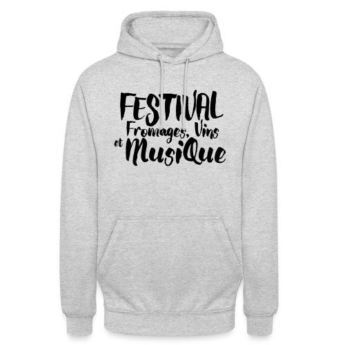 Festival Fromages, Vins et Musique - Sweat-shirt à capuche unisexe