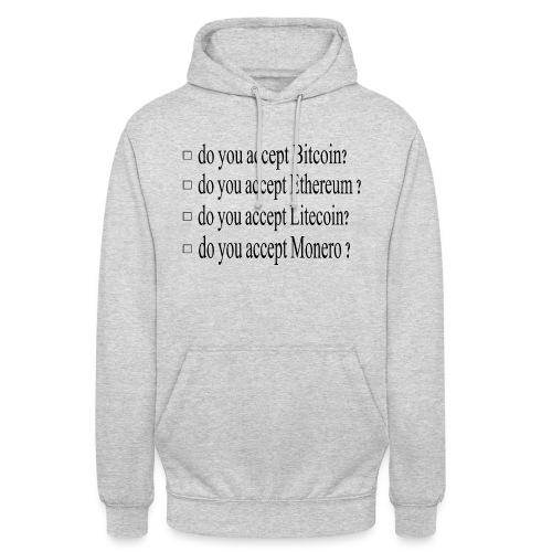 accepter - Sweat-shirt à capuche unisexe