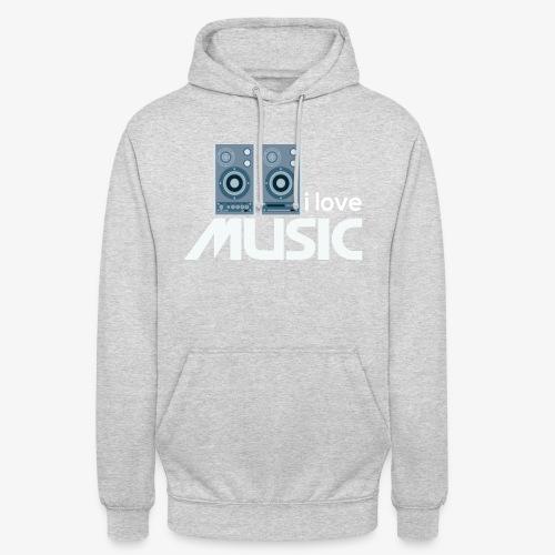 Amo la música 02 - Sudadera con capucha unisex