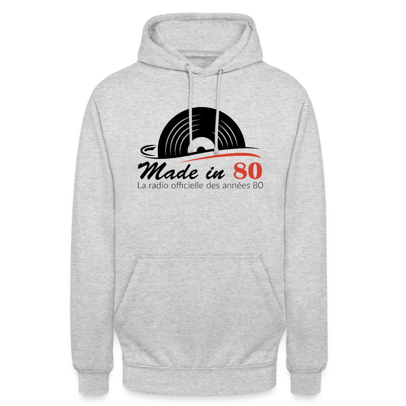 Made in 80 - Sweat-shirt à capuche unisexe