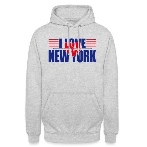 love new york - Sweat-shirt à capuche unisexe