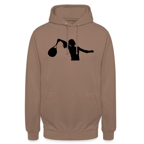 tennis silouhette 6 - Sweat-shirt à capuche unisexe