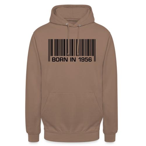 barcode born in 1956 60th birthday 60. Geburtstag - Unisex Hoodie