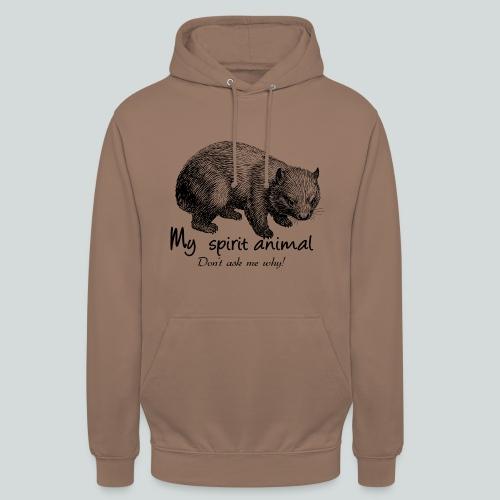 Wombat Spirit Animal I - Sweat-shirt à capuche unisexe