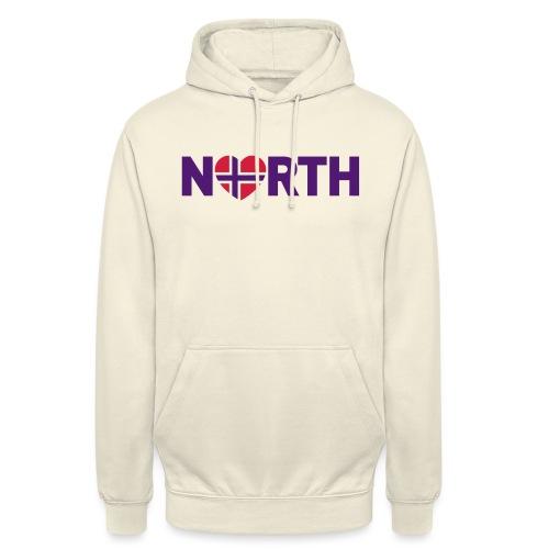 Nord-Norge på engelsk - plagget.no - Unisex-hettegenser