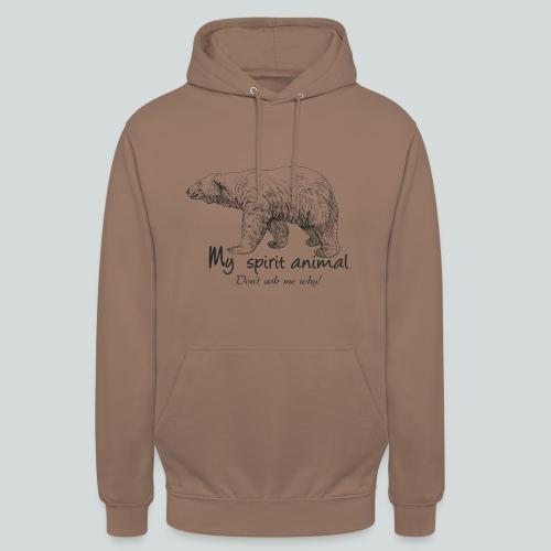 L'ours polaire est mon animal totem - Sweat-shirt à capuche unisexe