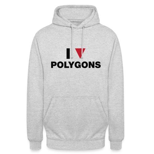 I Love Polygons - Hættetrøje unisex