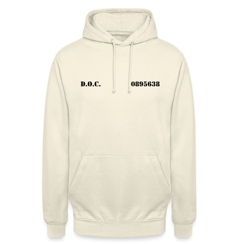 Department of Corrections (D.O.C.) 2 front - Unisex Hoodie
