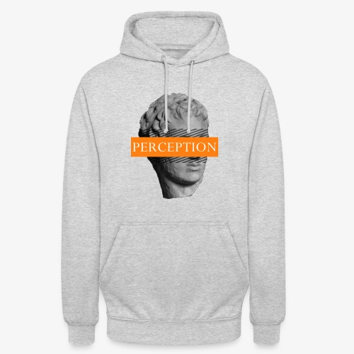 TETE GRECQ ORANGE - PERCEPTION CLOTHING - Sweat-shirt à capuche unisexe