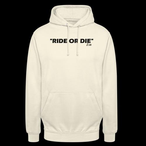 Ride or die (noir) - Sweat-shirt à capuche unisexe