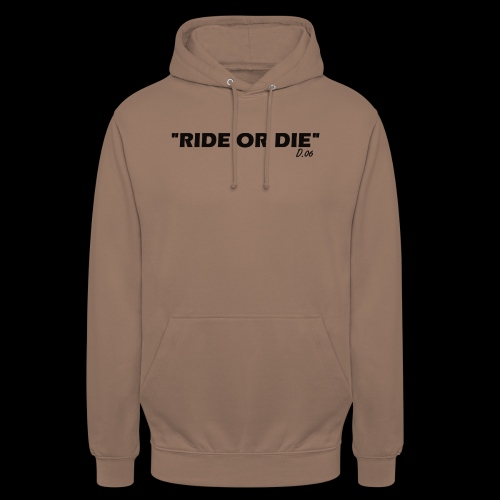 Ride or die (noir) - Sweat-shirt à capuche unisexe