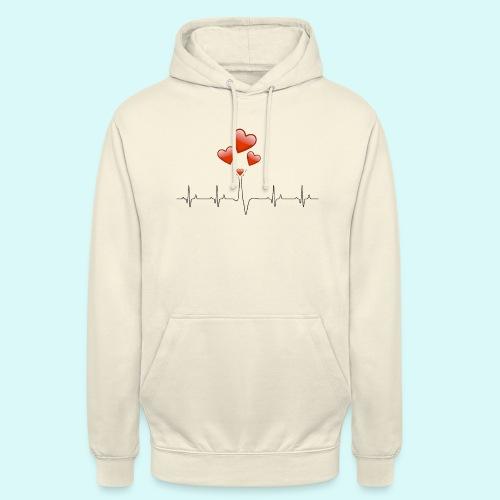 electrocardiogramme - Sweat-shirt à capuche unisexe
