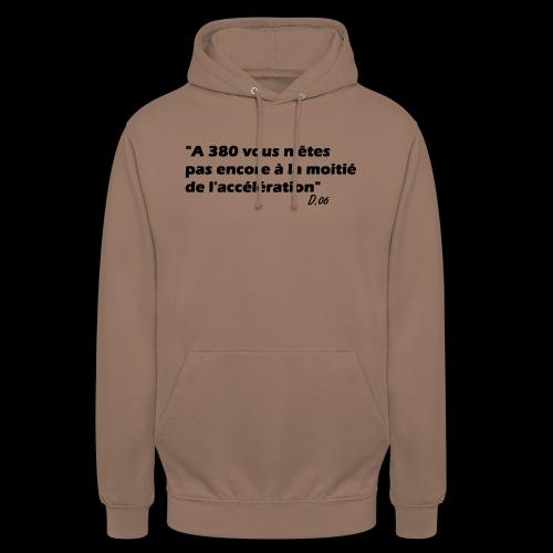 380 noir - Sweat-shirt à capuche unisexe
