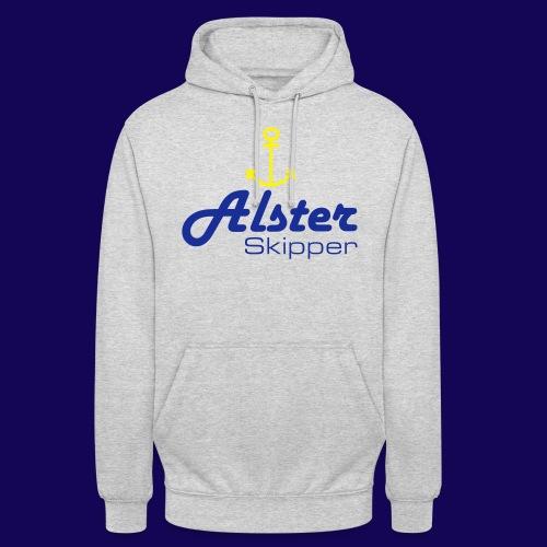 Hamburg maritim: Alster Skipper mit Anker - Unisex Hoodie