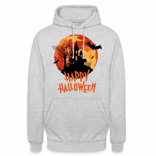 Bloodmoon Haunted House Halloween Design - Unisex Hoodie