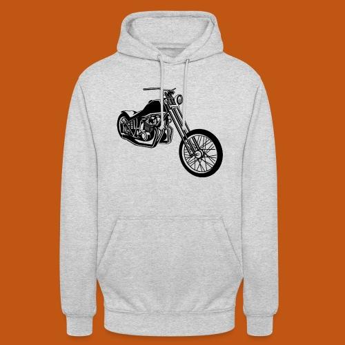 Chopper / Bobber Motorrad 01_schwarz - Unisex Hoodie