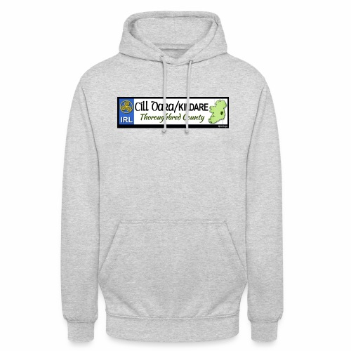 KILDARE, IRELAND: licence plate tag style decal - Unisex Hoodie