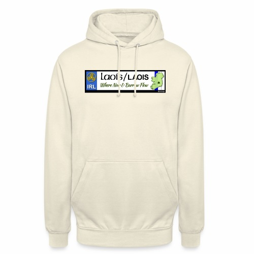 LAOIS, IRELAND: licence plate tag style decal eu - Unisex Hoodie
