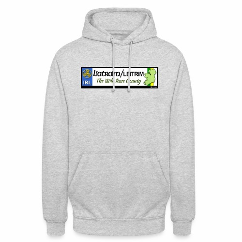 LEITRIM, IRELAND: licence plate tag style decal eu - Unisex Hoodie