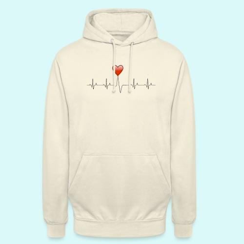 electrocardiogramme amoureux - Sweat-shirt à capuche unisexe