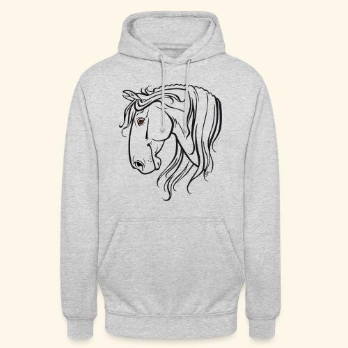 Cheval espagnol (noir) - Sweat-shirt à capuche unisexe