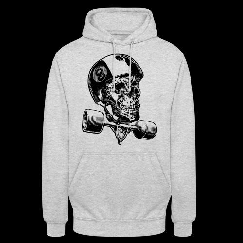 Skull Longboard Rider - positive print - Sweat-shirt à capuche unisexe