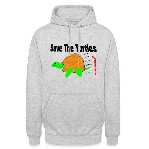 save the turtles - Unisex-hettegenser