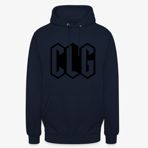 CLG DESIGN black - Sweat-shirt à capuche unisexe