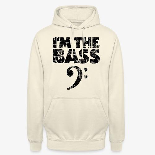 I'm the Bass Vintage Black (Clef) - Unisex Hoodie