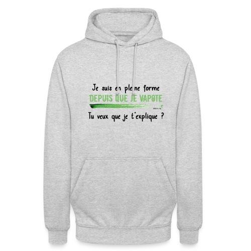 pleineforme png - Sweat-shirt à capuche unisexe