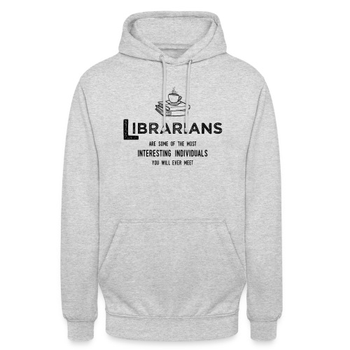 0335 Librarian Cool story Funny Funny - Unisex Hoodie