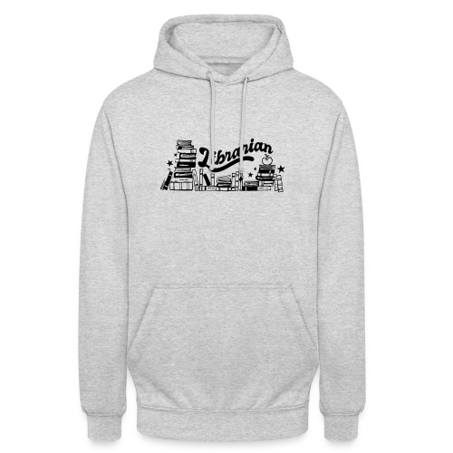 0321 Books Librarian stack of books funny - Unisex Hoodie