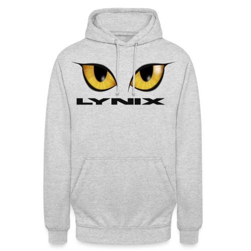 lynix new eyes text smaller png - Unisex Hoodie