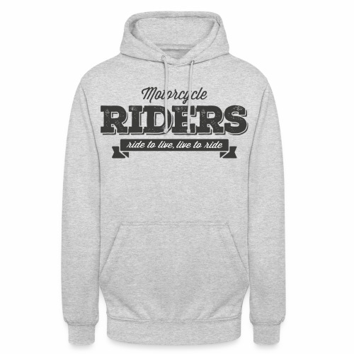 live to ride png - Unisex Hoodie