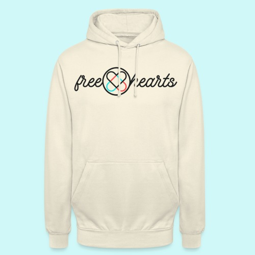 freehearts with color logo - Unisex Hoodie