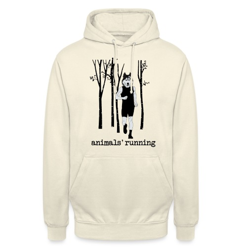 Loup running - Sweat-shirt à capuche unisexe