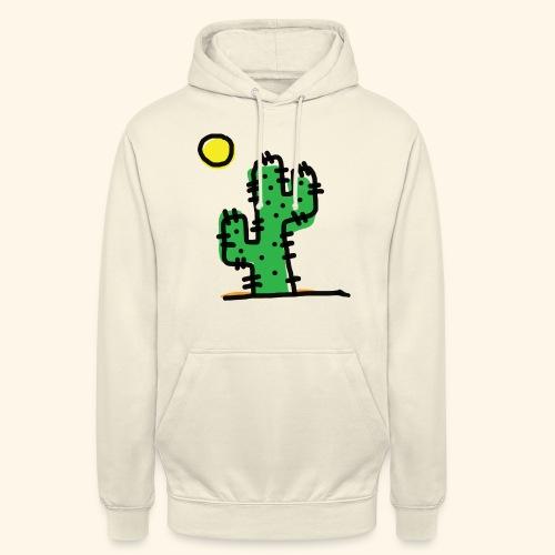 Cactus single - Felpa con cappuccio unisex