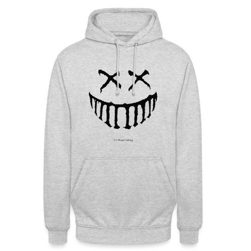 Creepy Smile Black - Felpa con cappuccio unisex
