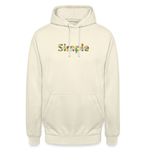 Simple - Sweat-shirt à capuche unisexe