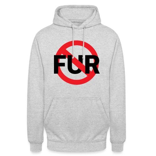 Fuck fur - Luvtröja unisex