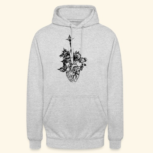 la nature du coeur - Sweat-shirt à capuche unisexe