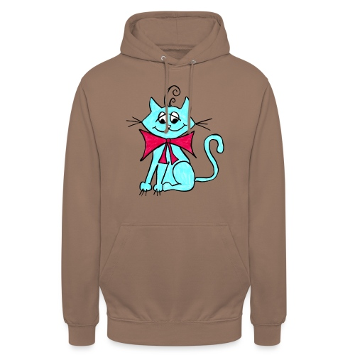 Katze blau - Unisex Hoodie